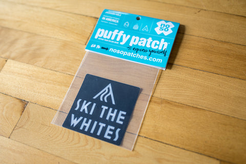 Ski The Whites Nylon Puffy Patch 3x3 Full Logo