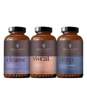 30 Day Detox & Fat Burning Kit Supplements Wellthy Nutraceuticals