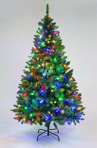 Imperial Pine Green with Lights (various sizes)