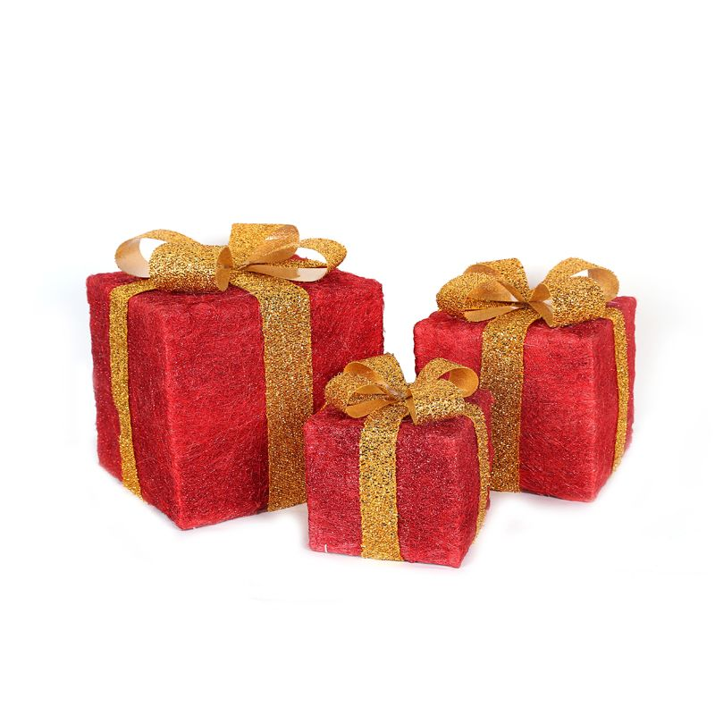Red Gift Parcels