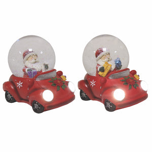 Santa in Car Snowglobe