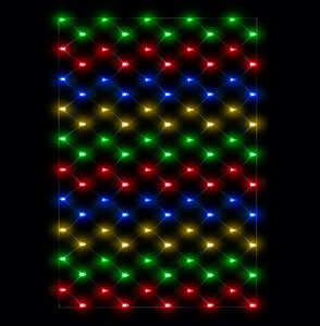Multi Coloured Connectable Lights - Net Lights