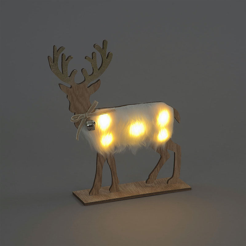 Wooden Stag with LED