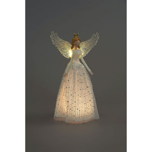 Standing LED Angel with Gold Crown