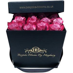 Two Tone Pink Rose Bloom Box - Bespoke Blooms By Maybury