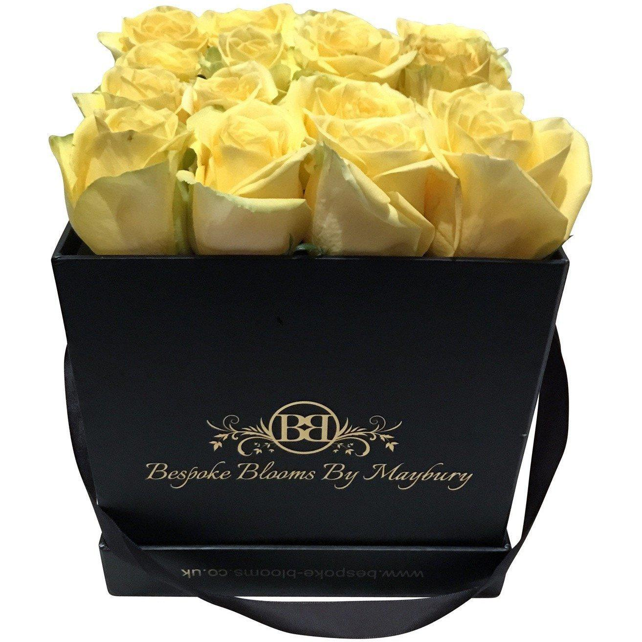 Yellow Rose Bloom Box - Bespoke Blooms By Maybury