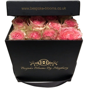 Soft Pink Rose Bloom Box - Bespoke Blooms By Maybury