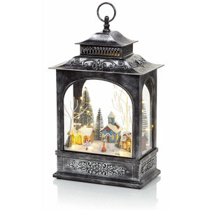 Musical Lantern with Rotating Village