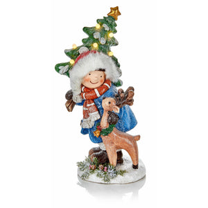 Child with Deer and Tree Ornament