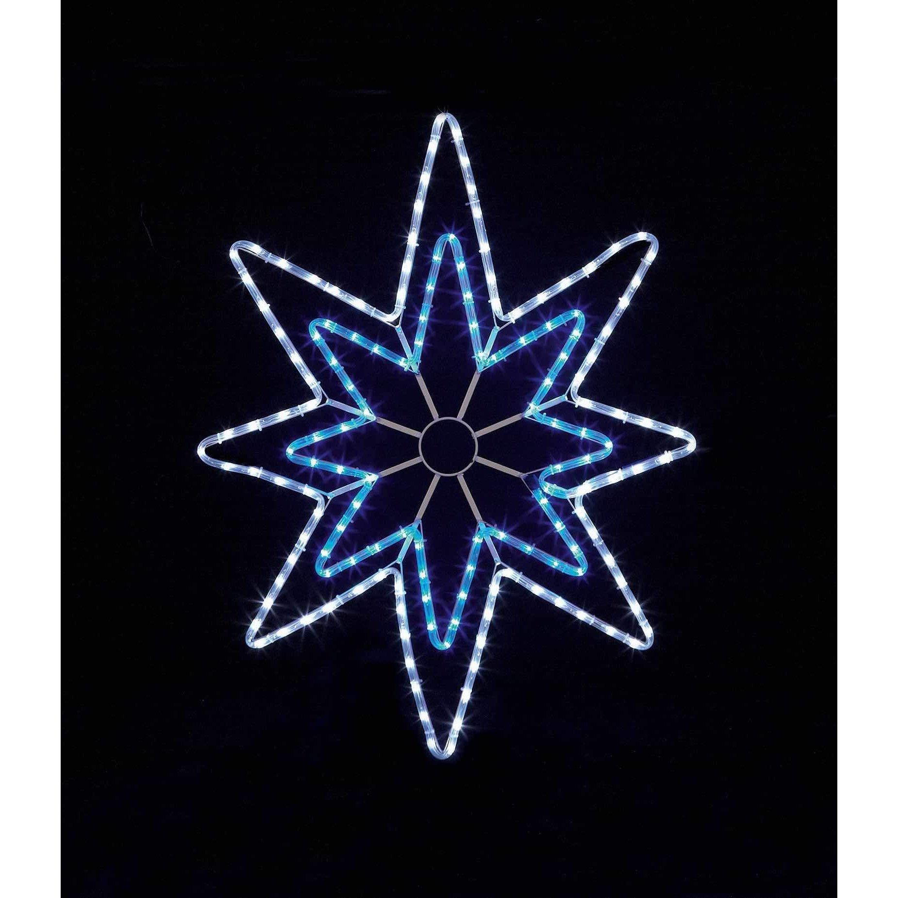 Blue and White LED Star Ropelight - 90cm