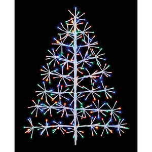 White Tree Cluster Multi Coloured