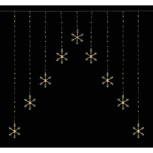 Snowflake Pin Wire Curtain