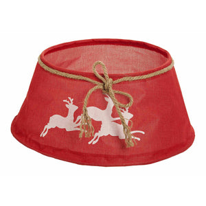 Red Reindeer Christmas Tree Skirt