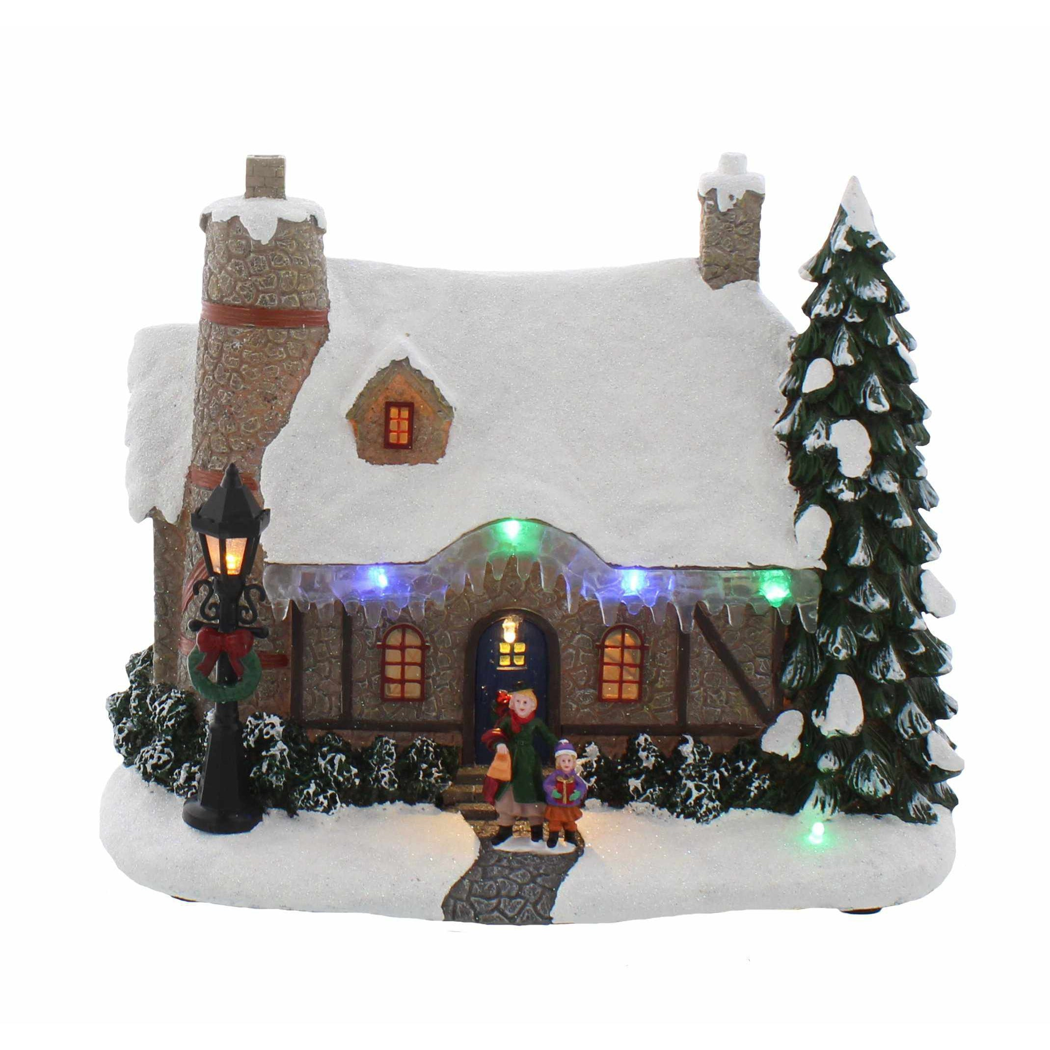 Christmas Village with Icicles