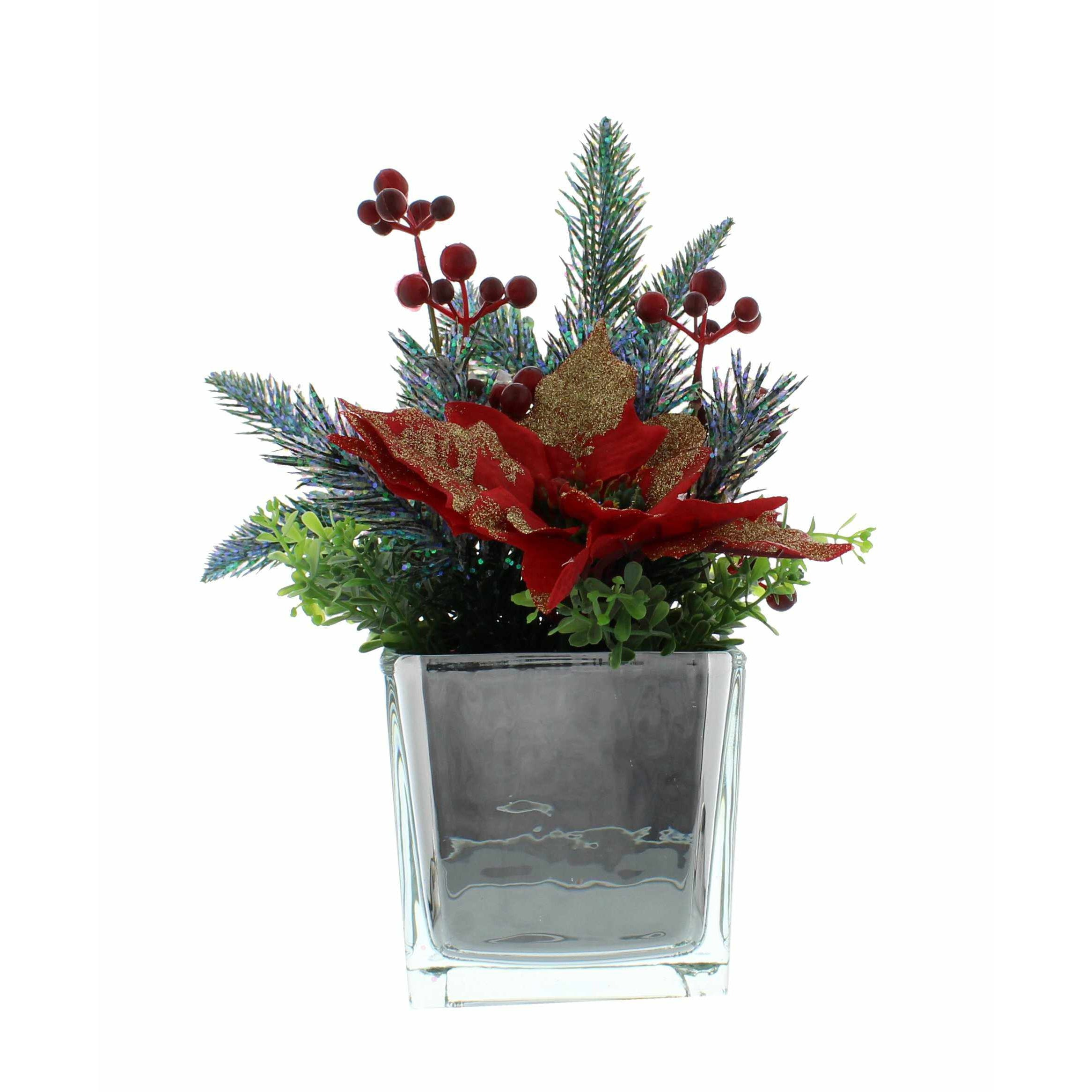 Artificial Poinsettia in Pot