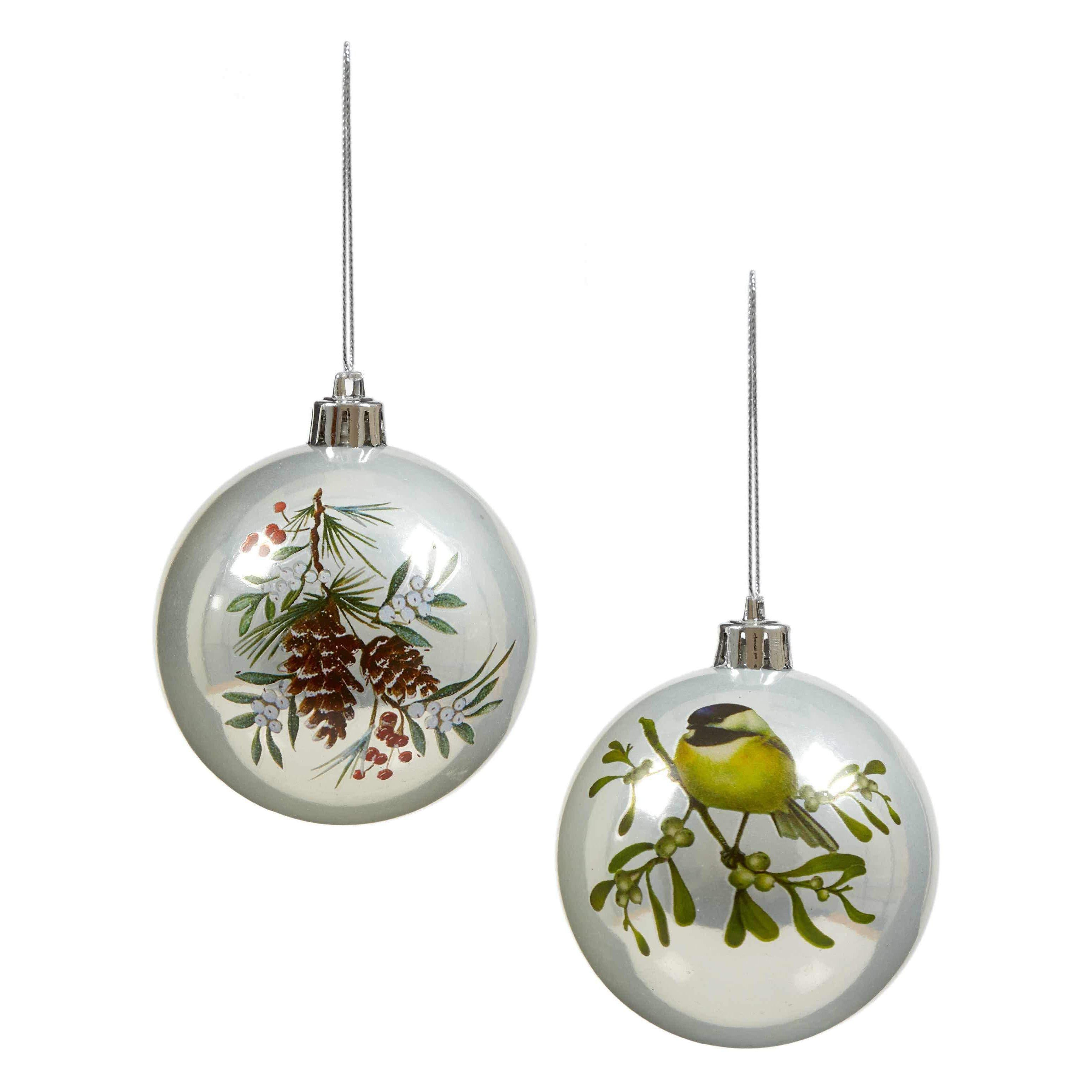 White Painted Bauble