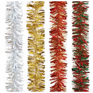 2m Long Christmas Tinsel (various colours)