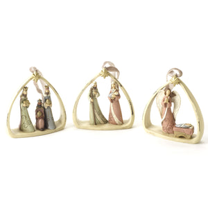 Nativity Scene Resin Bauble
