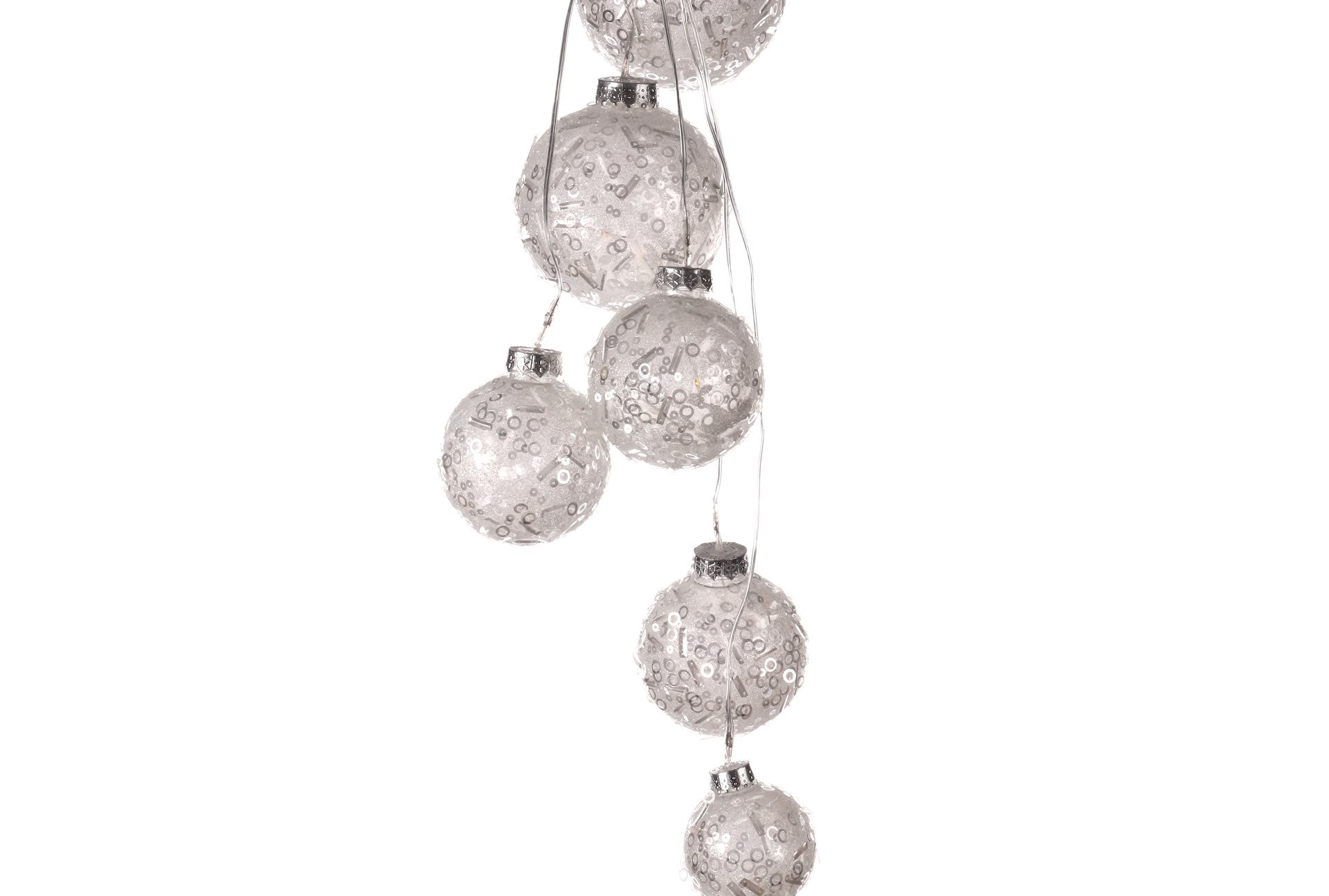 LED Silver Ball Hanging Decoration