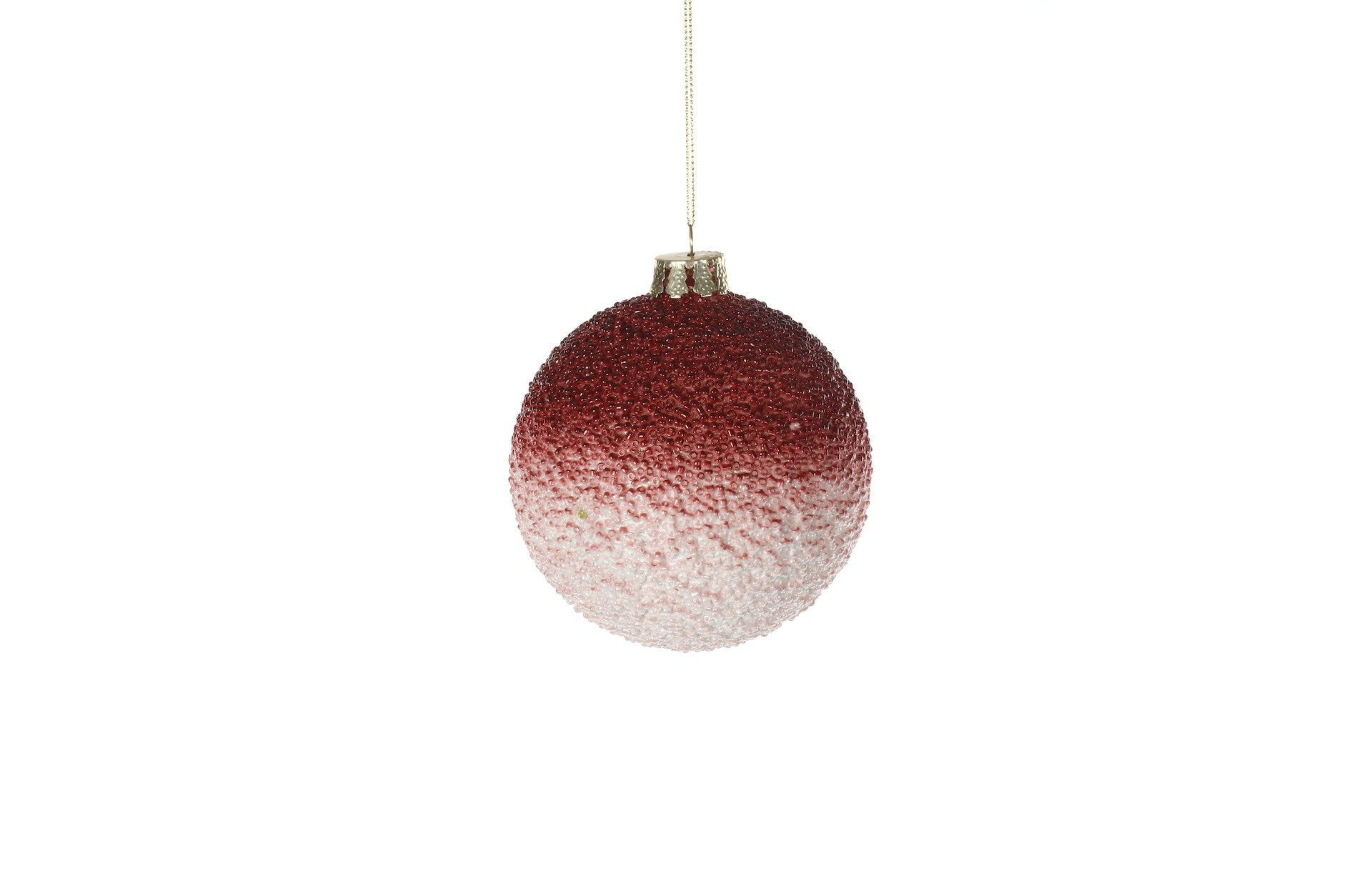 Burgundy Ombre Beaded Bauble