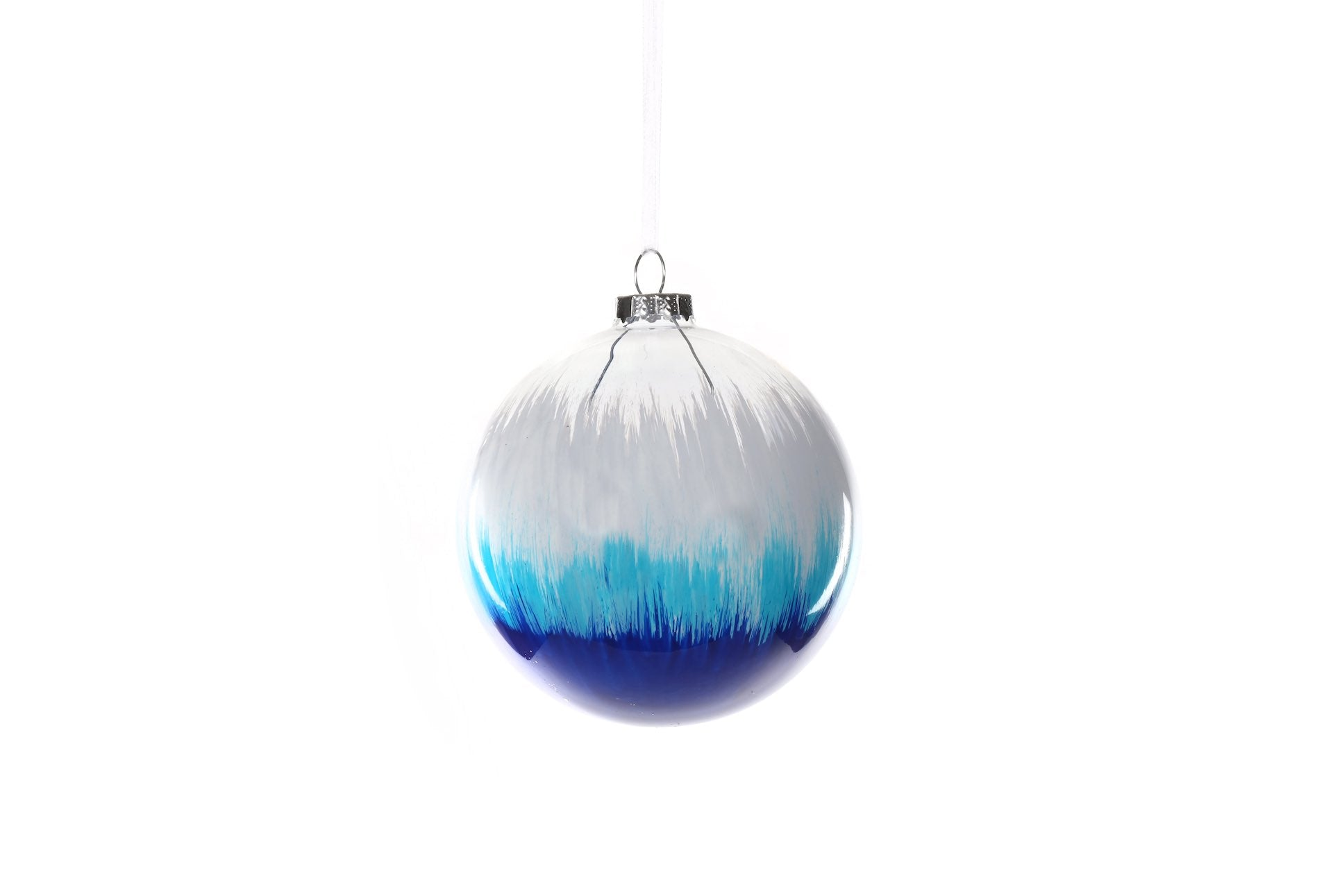 White Turquoise and Blue Bauble