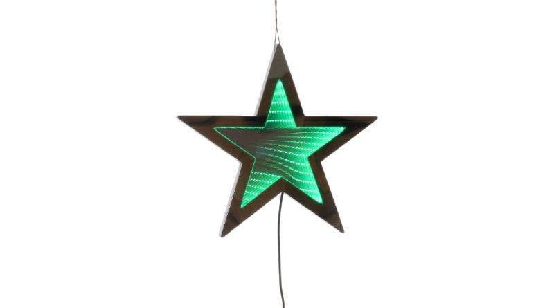 Infinity Light - Hanging Green Star