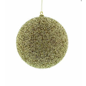 25cm Gold Textured Bauble