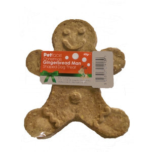 Christmas Gingerbread Man Shaped Dog Biscuit