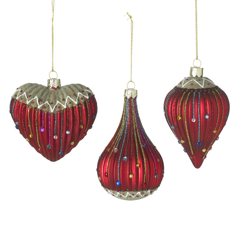 Red Intricate Glass Bauble
