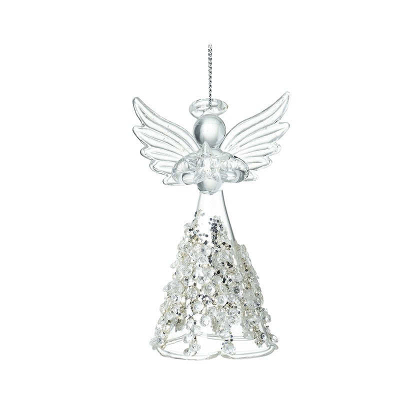 Glass Angel with Jewelled Skirt