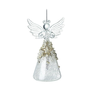 Glass Angel With Gold Star