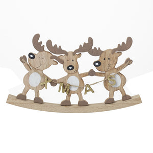Wooden Deer on Rocking Stand