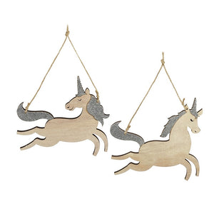 Wooden Hanging Unicorn