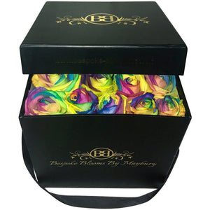 Rainbow Rose Bloom Box - Bespoke Blooms By Maybury