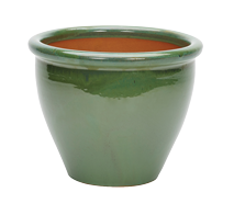 Malay Glazed Pot - Green - Large