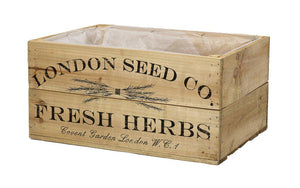 Antique Brown Herb Crate 35cm