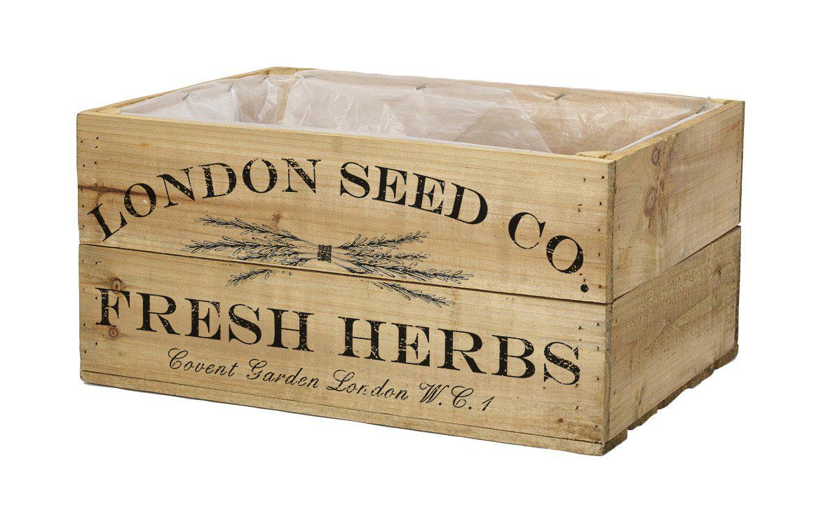 Antique Brown Herb Crate 25cm