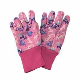 Kent and Stowe Kids Dinosaur Gloves - Pink