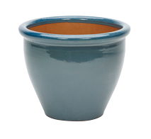 Malay Glazed Pot - Turquoise - Medium