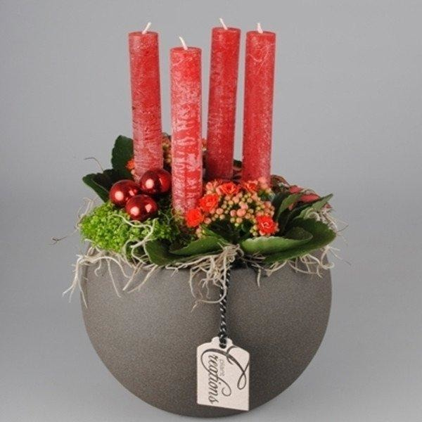 Red Ceramic Arrangement - Bespoke Blooms By Maybury