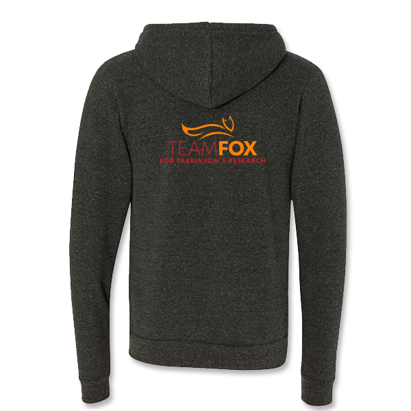 Team Fox Zip-up Hooded Sweatshirt - Charcoal / Black Heather