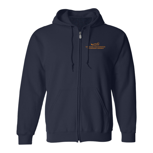 Michael J Fox Foundation Zip-up Hooded Sweatshirt - Navy