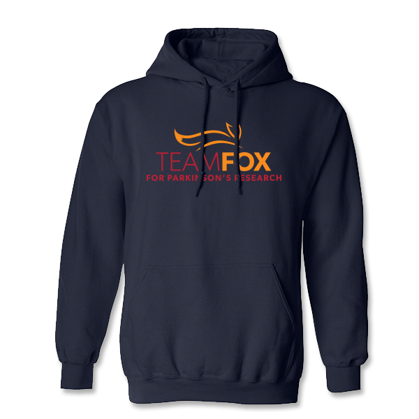 Team Fox Hooded Sweatshirt - Navy