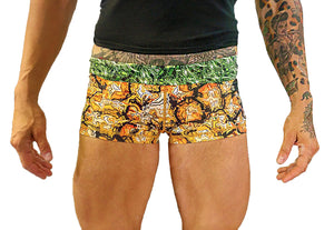 Ladies Pineapple Skull Shorts - Still Not Dead Apparel