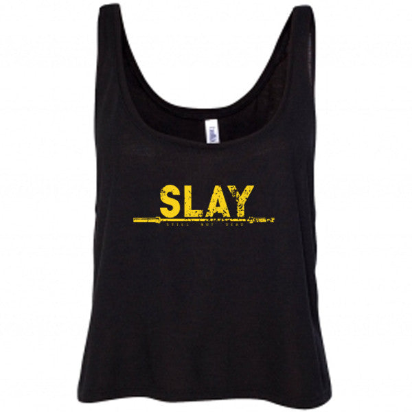 Slay Gold Foil Crop top - Still Not Dead Apparel