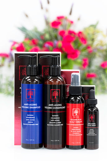 Sai Zen Anti-Aging Set of Shampoo, Conditioner, Serum, and Spray