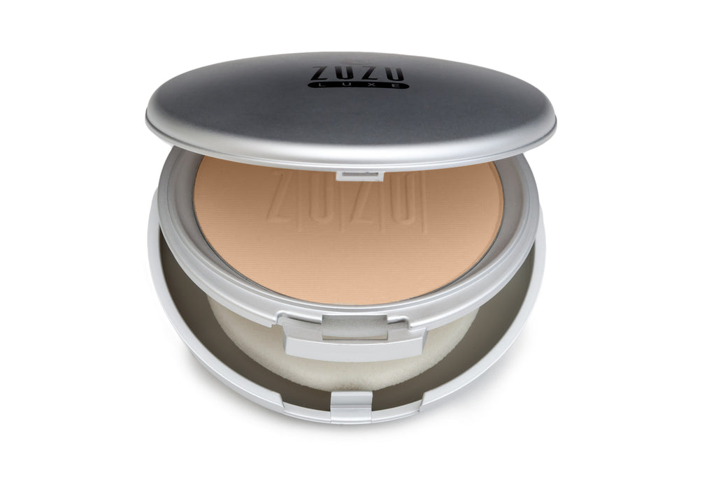 Zuzu Luxe Dual Powder Foundation D-10 - Pale Ivory Skin - Pink Undertones - 9g