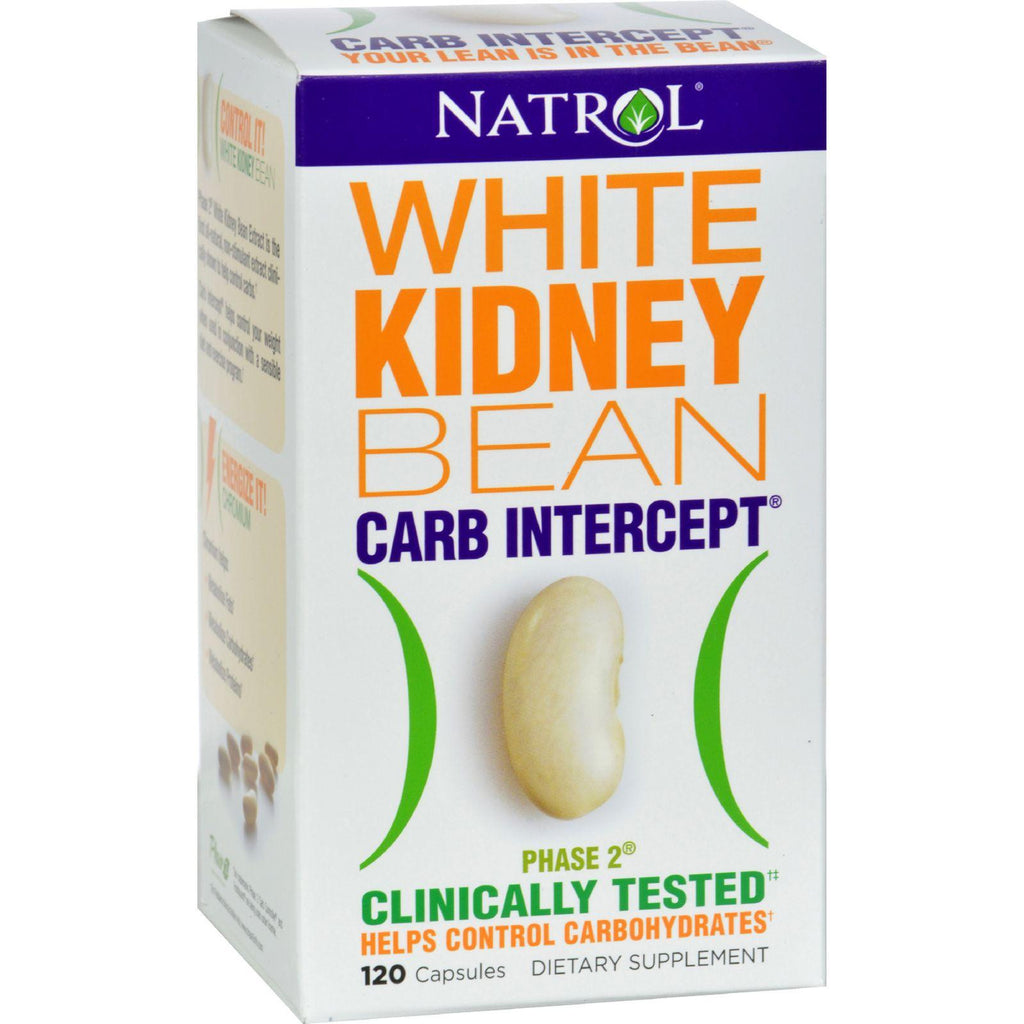 Natrol White Kidney Bean Carb Intercept - 120 Capsules