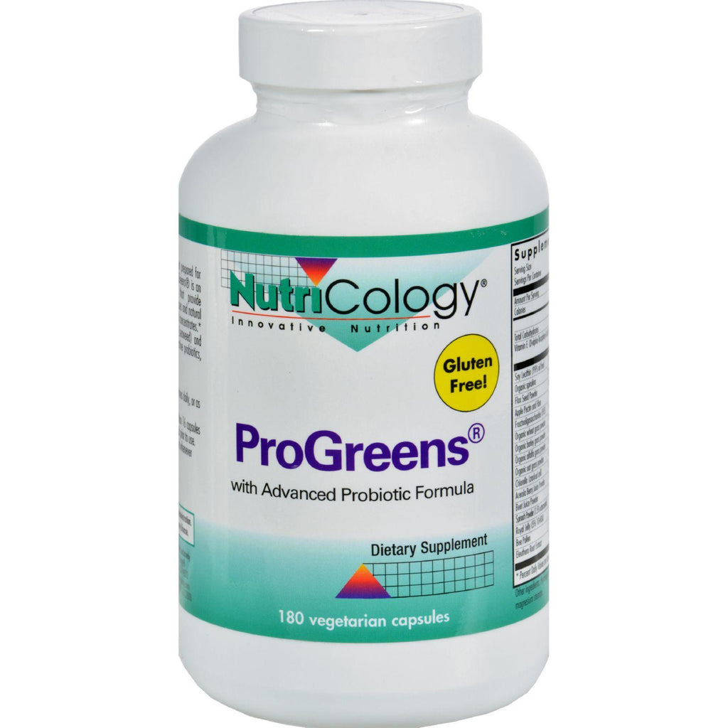 Nutricology Progreens With Advanced Probiotics Formula - 180 Capsules