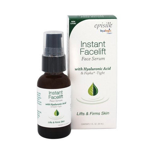 Hyalogic  Episilk Instant Facelift Face Serum with Hyaluronic Acid & Pepha-Tight  1 oz.
